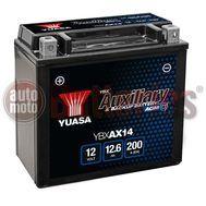 Yuasa Backup & Specialist Batteries Yuasa YBXAX14 Auxiliary 12V 12.6Ah 200EN A Yuasa Auxiliary AGM Battery