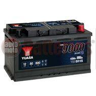 Yuasa YBX9115 12V Capacity 80Ah 800A Yuasa AGM Start Stop Plus Battery