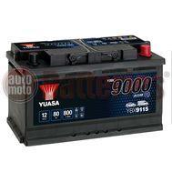 Yuasa YBX9115 12V Capacity 80Ah 800A EN Yuasa AGM Start Stop Plus Battery