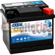 Μπαταρία Exide Gel ES450 Marine & Leisure Wh450 12V Capacity 20hr  40(Ah):EN (Amps): 280 EN Εκκίνησης