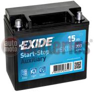 Μπαταρία Exide EK151 Auxiliary AGM Start Stop 12V  15Ah 200A EN