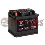 YUASA YBX3077 12V Capacity  45Ah  380A Yuasa SMF Battery