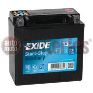 Μπαταρία Exide EK131 Auxiliary AGM Start Stop 12V  13Ah 200A EN