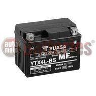 Μπαταρία Μοτοσυκλέτας Yuasa YTX4L-BS 12V  3.2 AH 50CCA