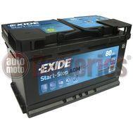 Μπαταρία Αυτοκινήτου EXIDE AGM EK800 Start Stop 12V 80Ah 800EN A-Εκκίνησης