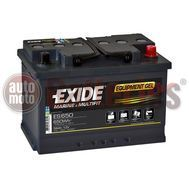Exide Techologies Battery Equipment GEL  ES650  12V 56AH  Marine Professional Dual Purpose (GEL G60)