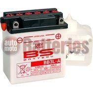 Μπαταρία Μοτοσυκλέτας BS-BATTERY  BB3L-A  DRY 3.2AH 30EN Αντιστοιχία YB3L-A