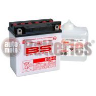 Μπαταρία Μοτοσυκλέτας BS-BATTERY  BB9-B  DRY 9.5AH 100EN Αντιστοιχία YB9-B