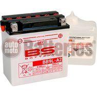 Μπαταρία Μοτοσυκλέτας BS-BATTERY  BB9L-A2  DRY 9.5AH 100EN Αντιστοιχία YB9L-A2