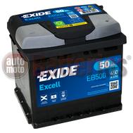 Μπαταρία Αυτοκινήτου Exide Excell EB500 12V 50AH-450EN A-Εκκίνησης