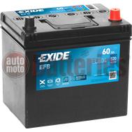 Μπαταρία Αυτοκινήτου EXIDE EFB Start Stop EL604  12V 60Ah 520A-Εκκίνησης