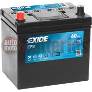 Μπαταρία Αυτοκινήτου EXIDE EFB Start Stop EL605  12V 60Ah 520A-Εκκίνησης