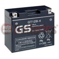 Μπαταρία Μοτοσυκλέτας GS-Battery-GT12B-4  VRLA  12V 10.5Ah  180CCA