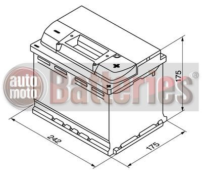 Μπαταρία Αυτοκινήτου Bosch S5004 12V 61AH-600EN A-Εκκίνησης   www.automotobatteries.gr  ©