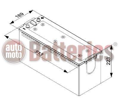 Μπαταρια Φορτηγου Exide Expert HRV EE1403  140AH 760EN Κλειστού Τύπου