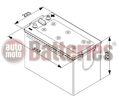 Μπαταρία  Φορτηγού-Σκάφους-Λεωφορείου   Bosch  T4077 12V  170AH  1000EN  Α-Εκκίνησης