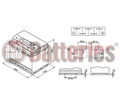 Μπαταρία Αυτοκινήτου Exide Premium EA612 12V 61AH 600EN A Εκκίνησης
