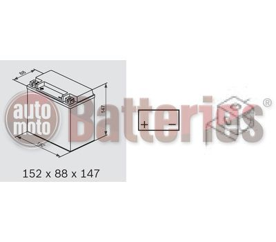 Μπαταρία Μοτοσυκλέτας Yuasa YTX14-BS 12V 12AH 200CCA