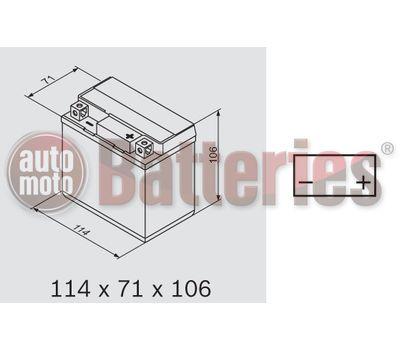 Μπαταρία Μοτοσυκλέτας Yuasa YTX5L-BS 12V  4.2AH  80CCA