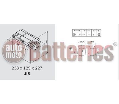 YUASA YBX5057 12V Capacity 48Ah 430A Yuasa Silver High Performance Battery