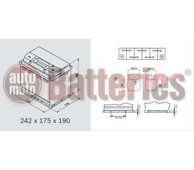 Yuasa YBX9027 12V Capacity 60Ah 680A Yuasa AGM Start Stop Plus Battery
