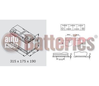 YUASA YBX5116 12V Capacity  90Ah  800A Yuasa Silver High Performance Battery