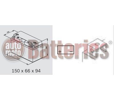 Μπαταρία Μοτοσυκλέτας BS-BATTERY  BT7B-BS  MF 6.8AH 110EN Αντιστοιχία YT7B-BS