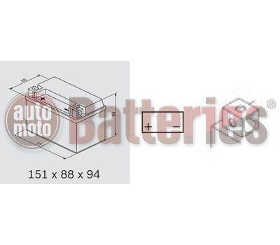Μπαταρία Μοτοσυκλέτας BS-BATTERY  BTX7A-BS  MF 6.3AH 105EN Αντιστοιχία YTX7A-BS