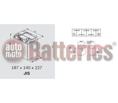 YUASA YBX3054 12V Capacity  36Ah  330A Yuasa SMF Battery