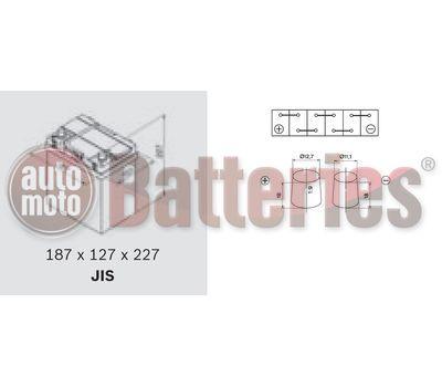 YUASA YBX3055 12V Capacity  36Ah  330A Yuasa SMF Battery