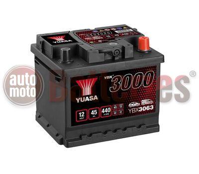 YUASA YBX3063 12V Capacity  45Ah  440A Yuasa SMF Battery