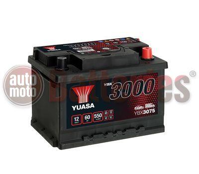 YUASA YBX3075 12V Capacity  60Ah  550A Yuasa SMF Battery