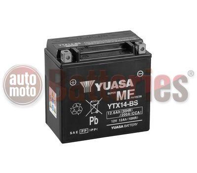 Μπαταρία Μοτοσυκλέτας Yuasa YTX14-BS 12V 12.6AH 200CCA