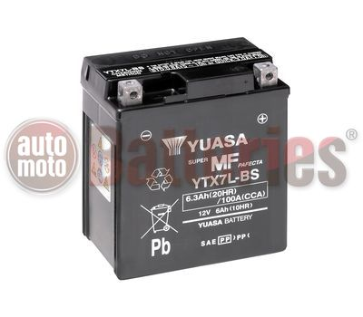 Μπαταρία Μοτοσυκλέτας Yuasa YTX7L-BS 12V  6.3AH  100CCA