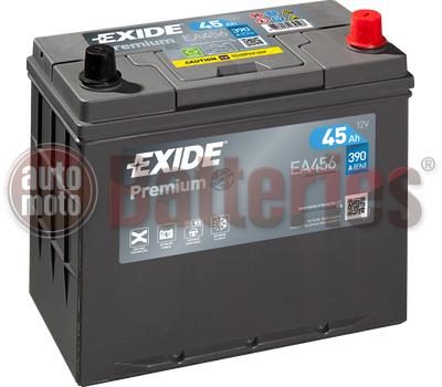 Μπαταρία Αυτοκινήτου Exide Premium EA456 12V 45AH-390EN A-Εκκίνησης