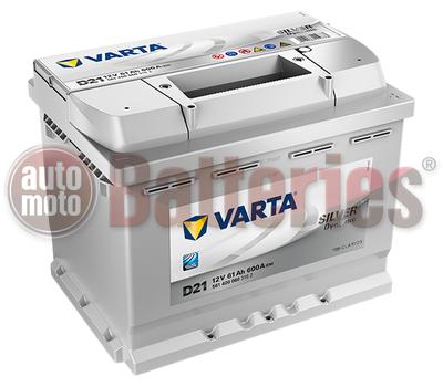 Μπαταρία Αυτοκινήτου Varta Silver Dynamic D21 12V 61AH-600EN A-Εκκίνησης